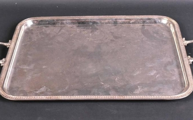 French Silver Plated Double Handled Tray