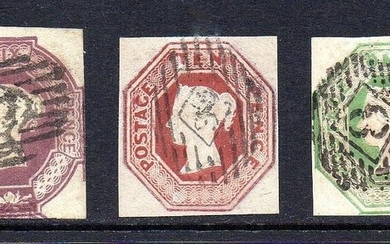 Great Britain - England 1847/1854 - QV Embossed Set - Stanley Gibbons 54 / 57 / 58 /