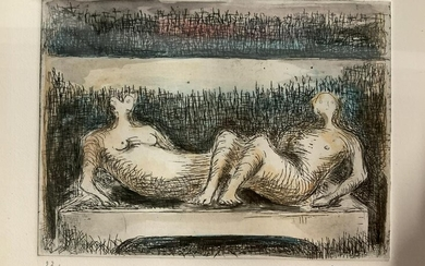 Henry Moore Signed Ltd Ed Lithograph