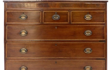 Hepplewhite Chest of Drawers with Brass Pulls in