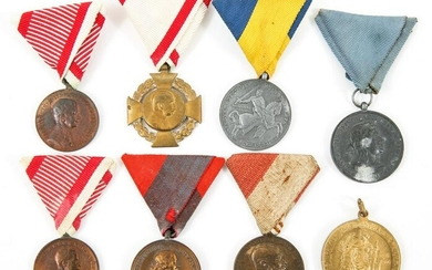IMPERIAL AUSTRIAN & WWII HUNGARIAN MEDAL LOT OF 8
