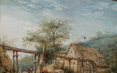 JOHANN GOTTLOB FRIEDRICH TIEBEL (GERMAN 1750 - 1796) THE WATERMILL