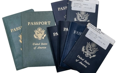 Johnny and Pam Thompson's Passports. USA