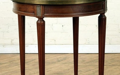 LOUIS XVI STYLE MARBLE TOP MAHOGANY TABLE C.1940
