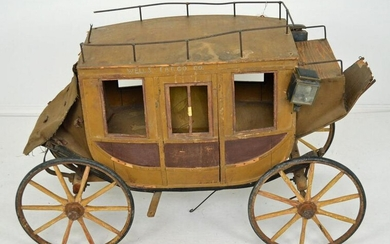 Large Antique Wells Fargo US Mail Stagecoach