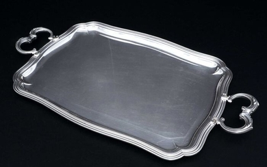 Large, Two handled Tray (1) - .925 silver - France - First half 20th century