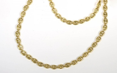 Long 18 karat yellow gold chain. L.:+/-76cm. Total weight:+/-96gr.