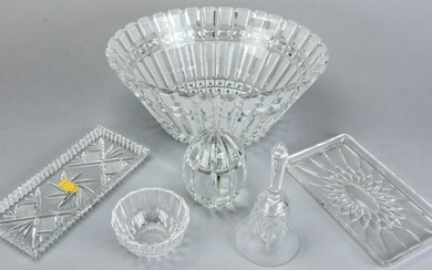 Lot of Crystal Table Articles Incl Val St Lambert