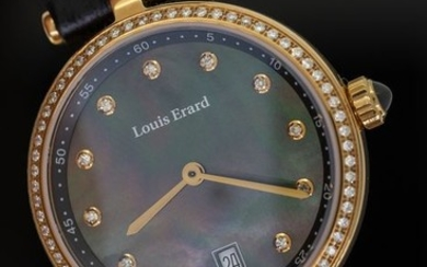 Louis Erard - 77 Diamonds for 0,39 Carat Romance CollectionMother of Pearl Dial2 Tone Rose Gold Swiss Made - 11810PS29.BRCB5 - Women - BRAND NEW