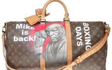 Louis Vuitton - Customized Keepall 50 strap MonogramMike Tyson Vs MickeyI' #64 by PatBo Weekend bag