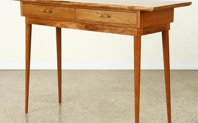 MID CENTURY MODERN CONSOLE TABLE TWO DRAWERS
