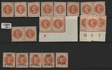 MINT COLLECTION with unmounted ½d vermilion (7), 1½d, 2½d (8...