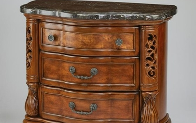 Michael Amini 'Excelsior' marble top side chest