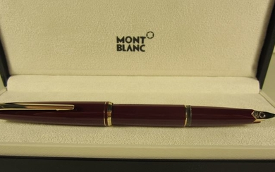 Montblanc - Superb bordeaux red fountain pen - Perfect condition