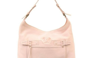 New VERSACE PALAZZO OVERSIZED SHOULDER BAG IN POWDER