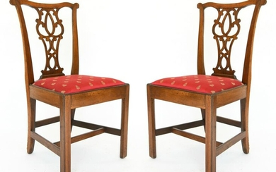 PAIR OF 19TH C. CHIPPENDALE STYLE CHAIRS