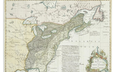 PHINN, THOMAS (engraver). A Map of the British and French Settlements in North America.