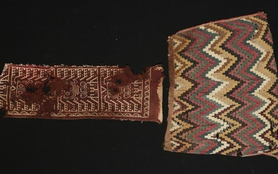 Pair of Chimu Textile Fragments