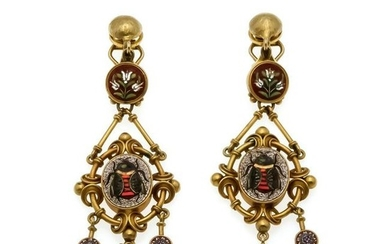 Pietra Dura earrings GG 7