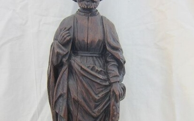Saint, Sculpture - Baroque - Oak - First half 18th century