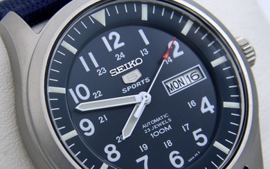 "Seiko - Automatic 23 Jewels 100M Blue - ""NO RESERVE PRICE"" - Men - 2019"