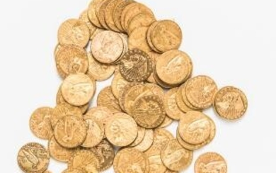 Seventy-eight $2.50 Liberty and Indian Head Gold Coins.