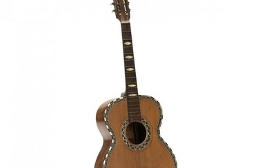Sicilian Acoustic Guitar With Fancy Mother of Pearl
