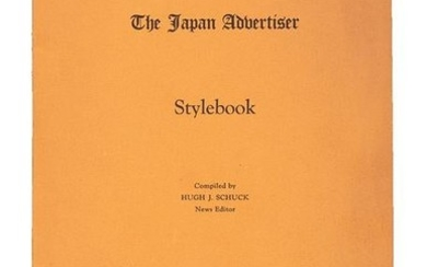 Stylebooks for English language paper in Japan, 1926
