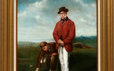 THOS. WOLFE, ENGLISH, GOLF COURSE LANDSCAPE SCENE