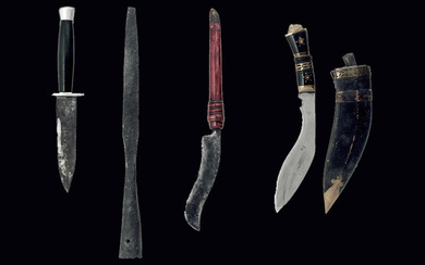 THREE KNIVES AND A LANCE HEAD