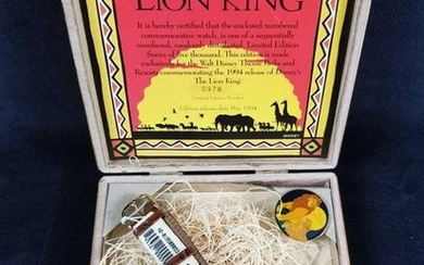 The Lion King Collectible Limited Edition Watch with