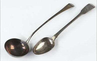 Two English George III Silver Serving Pieces.