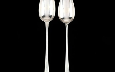 Two George III Silver Stuffing Spoons, Mark of Hester