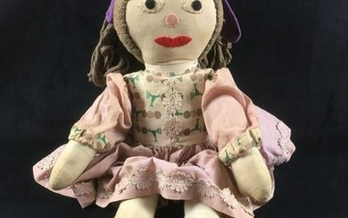 Vintage Hand Made Muslin Doll