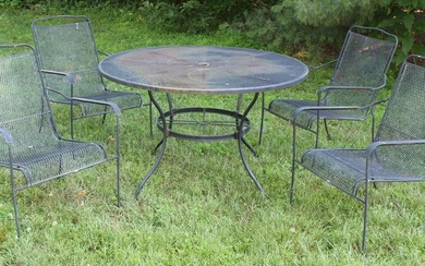 Vintage Woodard Style Patio Dining Set