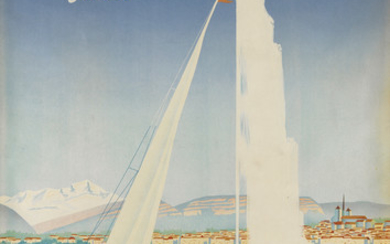 WALTER MAHRER (DATES UNKNOWN). GENÈVE / SUISSE. 1950. 39x25 inches, 99x64 cm. Atar, Genève.