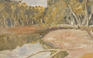 WILLIAM FRATER (1890-1974) On the Murray c.1948 oil on board
