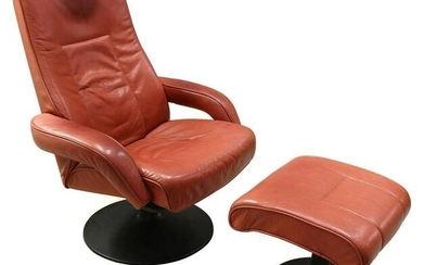 Westnofa Leather Recliner with Ottoman