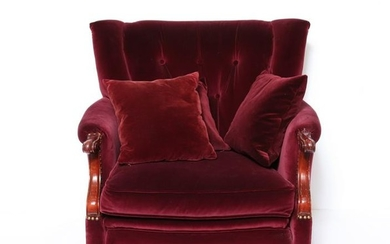 Wingback Tufted Upholstered Club Chair