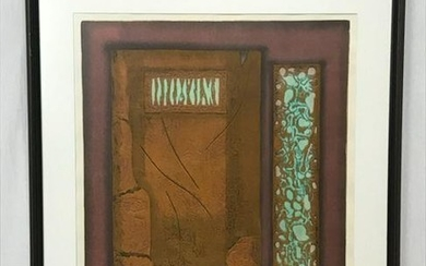 Woodblock Print Square Evidence, Original Signed by