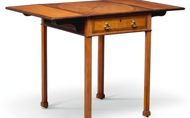 A GEORGE III SATINWOOD AND MARQUETRY PEMBROKE TABLE, LATE 18TH CENTURY
