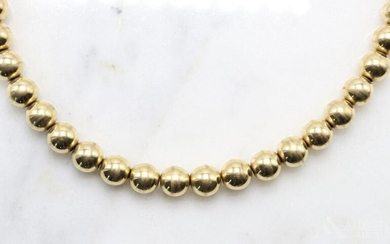 14KY Gold Bead Necklace