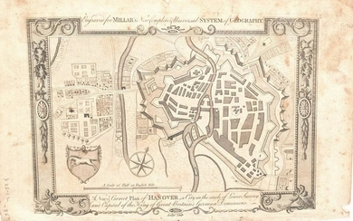 1768 Millar Map of Hanover -- A NewCorrect Plan of