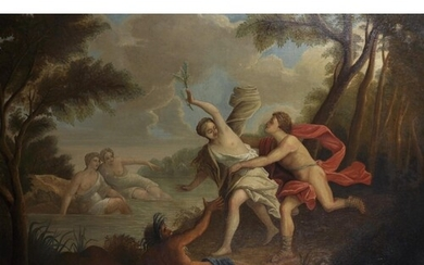 18th Century French School. Diana the Huntress, Oil on Canva...