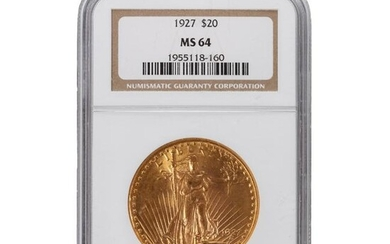 1927 NGC MS64 $20 Gold American Double Eagle Coin