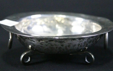 19th CENTURY SPANISH COLONIAL SILVER FOOTED BOWL
