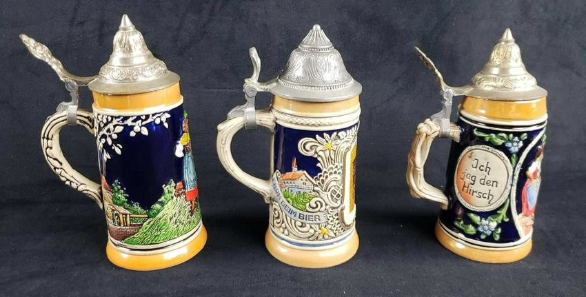Columbus Lidded Beer Stein Gerz Germany New