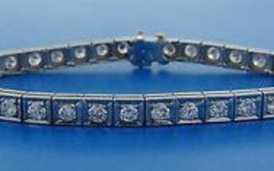 3.60 cts Diamond White Gold Tennis BRACELET