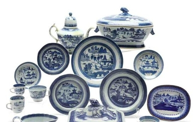 (55) Pieces of Chinese Export Canton Porcelain