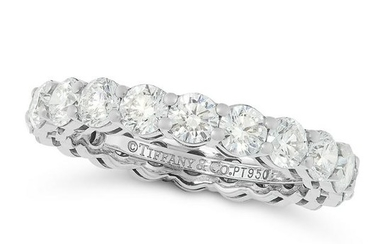 A 3.70 CARAT DIAMOND ETERNITY RING, TIFFANY & CO in